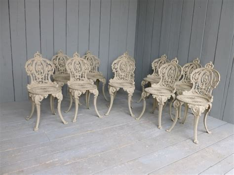 Set of 10 Vintage Reclaimed Cast Iron Garden Chairs,buy