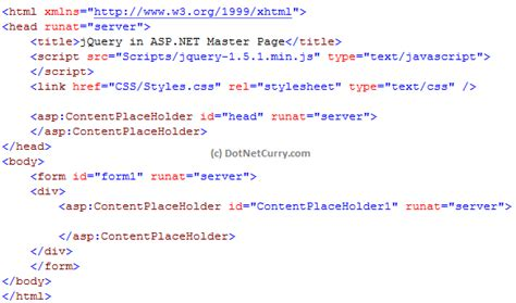 Using jQuery with ASP