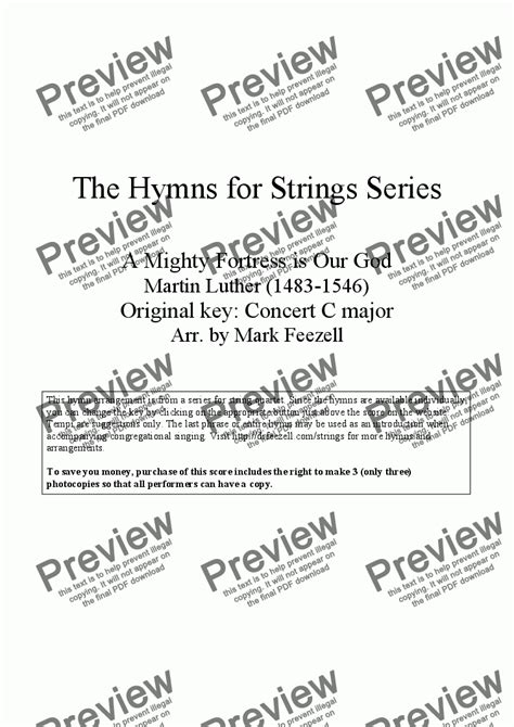 Hymns for Strings: A Mighty Fortress is Our God (Ein feste