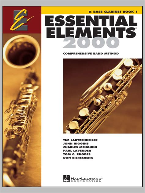 Essential Elements 2000, Book 1 For Bb Bass Clarinet (Book
