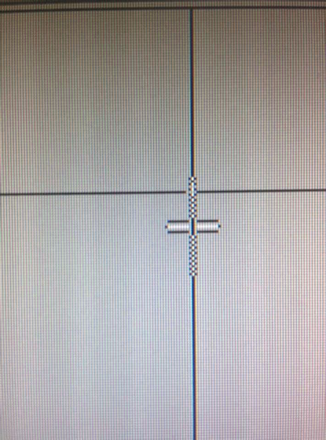 Mouse cursor has randomly enlarged and has lines going