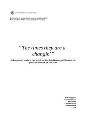 """The times they are a-changin' """"  """