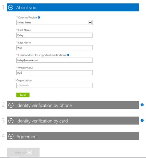 Sign up for Azure with Office 365 account   Microsoft Docs