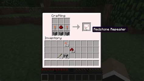 Minecraft How To Craft A Redstone Repeater!!! 1