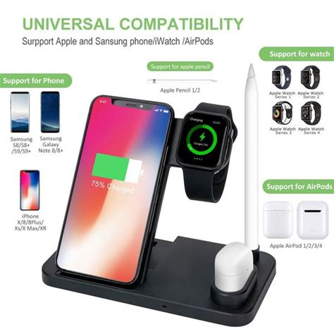 4 in 1 Wireless Charger for iPhone 11 Pro Max Xs Fast