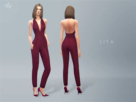 starlord's Silk V-neck Jumpsuit LIYA   Sims 4 Updates