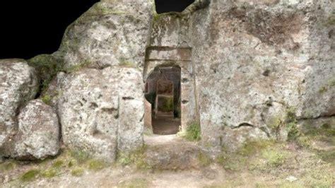 Tomb of the Chair, San Giovenale (3D Image) - Ancient