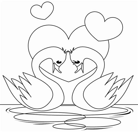 Swan Coloring Pages | Love coloring pages, Bird coloring