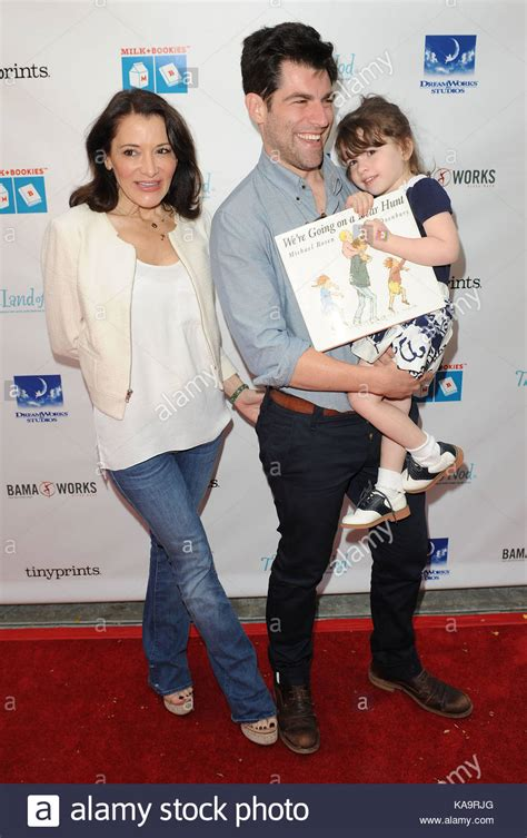 Max Greenfield, Tess Sanchez and Lilly Greenfield