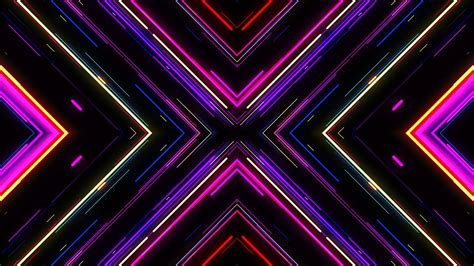 Motion Graphic Background VJ Neon Lights Tunnel Footage