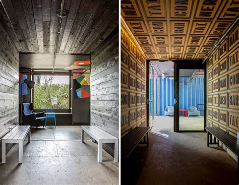 north arrow studio re-purposes shipping containers into