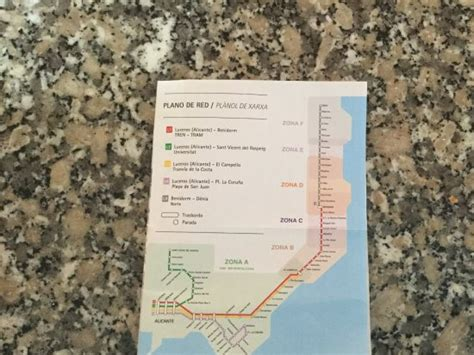 Travel zone map with stations - Picture of Alicante Tram