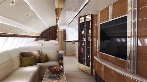 Most Luxurious Plane - Boeing 747-8 VIP - YouTube
