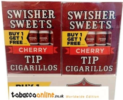 Swisher Sweets Tip Cherry Cigars made in USA, 40 x 5 pack