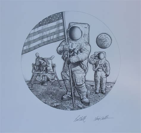 """Paul & Chris Calle """"First Man on the Moon"""" by Helmuth"""