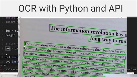 OCR Text recognition with Python and API (ocr