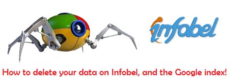 How to delete your data on Infobel, and the Google index