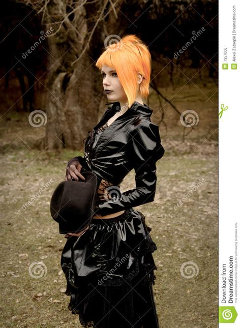 Beautiful Girl In Gothic Outfit Royalty Free Stock Image