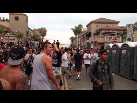Riot At Huntington Beach After Surfing Competition [Video
