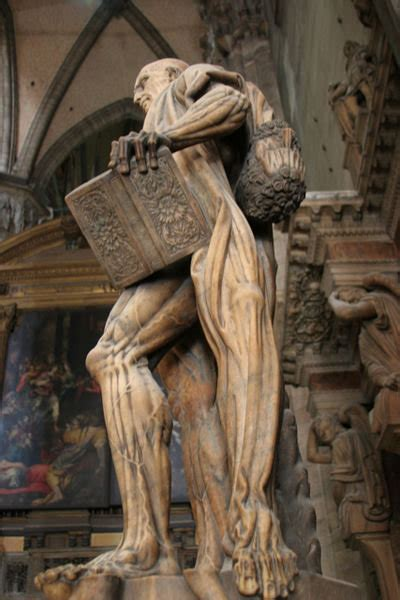 The statue of a flayed St