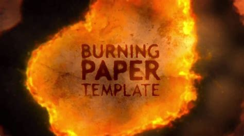 Burning Paper Opener - After Effects Template - YouTube