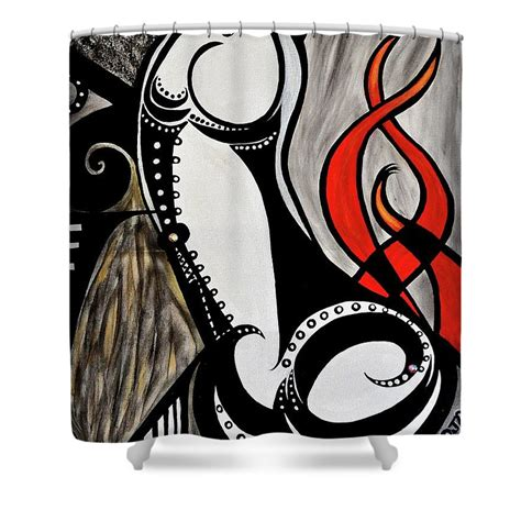 Art Nouveau Shower Curtain - Shower Stall Kits and Curtain