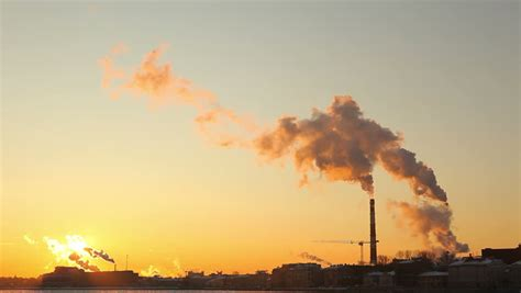 Time-lapse of Air Pollution Factory Stock Footage Video