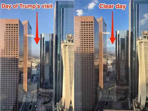 See how smoggy downtown LA was the day before Trump is