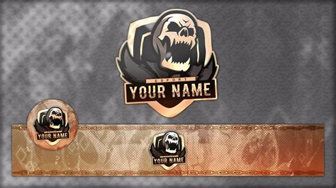 FREE Gamıng Mascot/Clan Logo w/Banner And Avatar Template