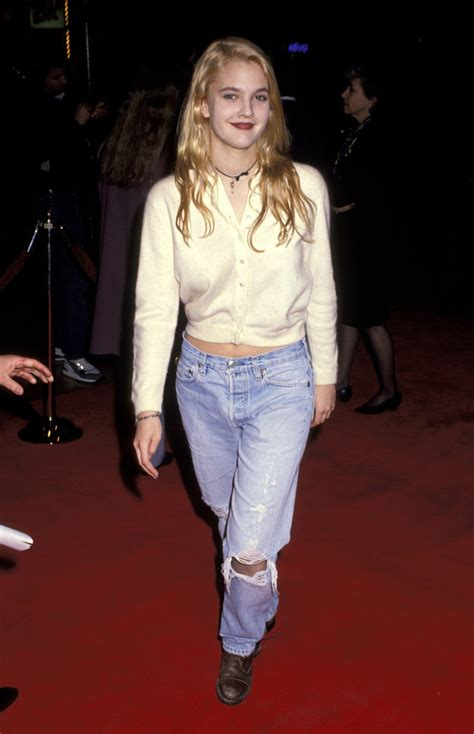 90's Drew Barrymore - Blue is in Fashion this Year