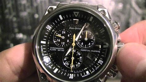 Citizen Chronograph Time/Date/Month/Leap Year Adjustment